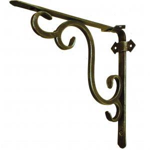 Кронштейн кованый 25 х 25 см | Цвет: черный-бронза-стиль-1