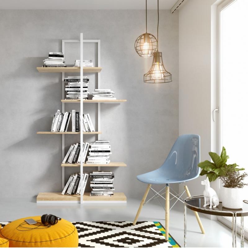 Фото стеллаж «Timu» из металла и дерева в стиле Loft