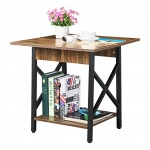 Cтол «End Table» в стиле «Loft» из металла и дерева