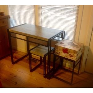 Купить комплект для кухни «Small Kitchen» стол и два стула в стиле «Loft» недорого c доставкой по Москве и России
