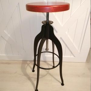 Купить недорого стул барный из металла и дерева в стиле Лофт, интернет магазин c доставкой по Москве